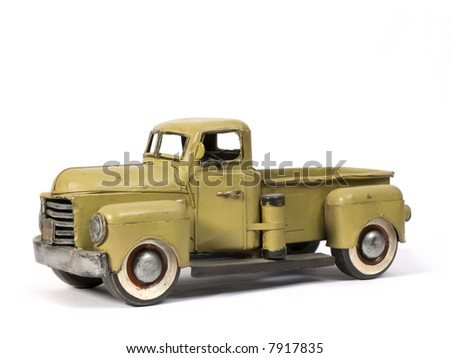Model of ancient truck made with tinplate