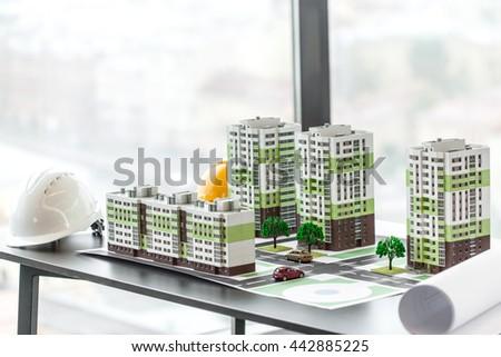 model of residential quarter...