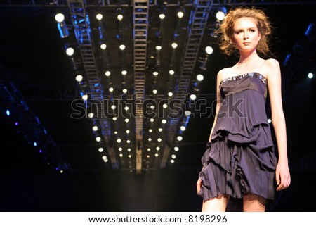 Model on the catwalk at Seoul Collection (Fashion Week) 08 S/S.