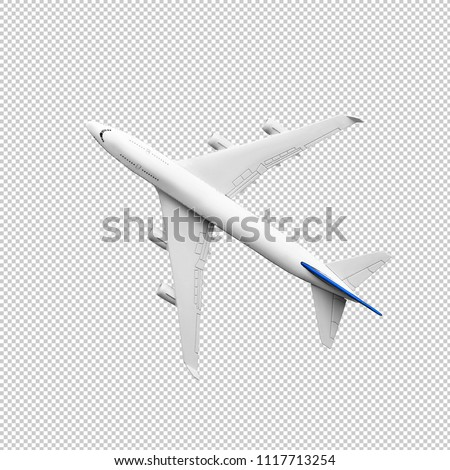 Photo of  Model plane,airplane in white color mock up.