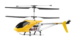 Model radio-controlled helicopter isolated on a white background