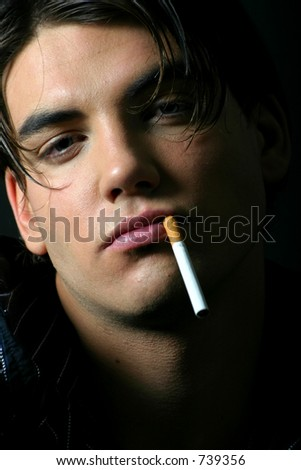 Model smoking portrait