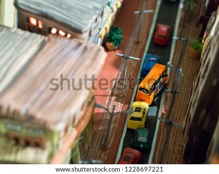 Model Town Road Traffic Transportation #1228697221