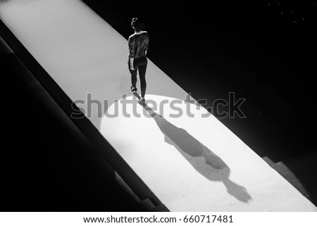 Models on the catwalk during the fashion show