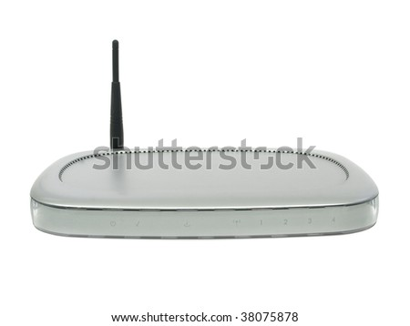 Modem router Wireless isolated on white background
