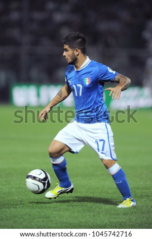 "Modena Italy 09/11/2012, ""Alberto Braglia"" Stadium, Brazil 2014 World Cup Qualification, Italy-Malta match: Lorenzo Insigne in action during the match"