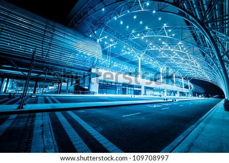 modenrn railway station at shanghai china. #109708997
