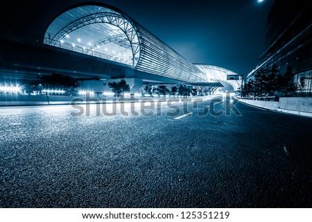 modenrn railway station at shanghai china. #125351219