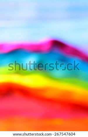Modern abstract art. Blurry rainbow on the rainbow background. Romantic. Backgrounds & textures shop.