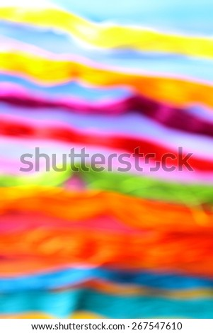 Modern abstract art. Blurry rainbow on the rainbow background. The lines. Backgrounds & textures shop.