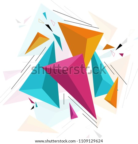 modern abstract geometric pattern and background