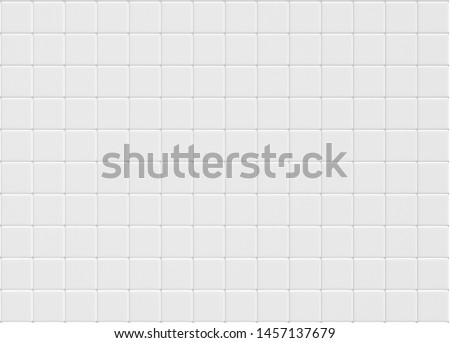 Modern abstract white concrete tile wall background and texture. square ceramic mosaic cube pattern ,for business, high resolution Home and kitchen concept. 3d illustration