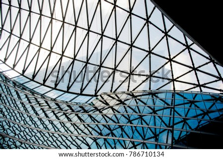 Modern and abstract architecture details in Milan