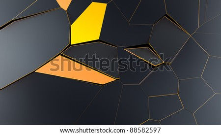 Modern and abstract Voronoi broken Background 3d