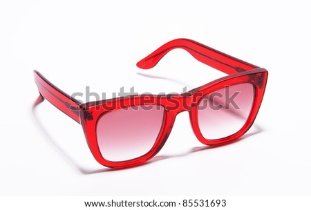 modern and colorful sunglasses isolated in white background