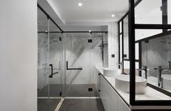 Modern and comfortable interior, Bedroom bathroom