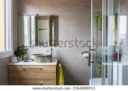 Modern and contemporary bathroom