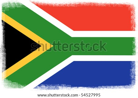 Modern and dynamic south africa flag. Illustration