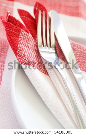 Modern and elegant silverware set