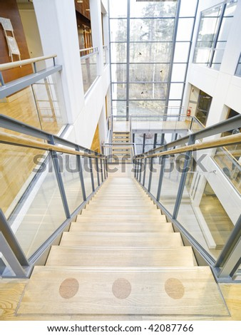 Modern and luxurious interior of a university