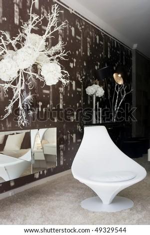 Modern and luxury decorated sleeping room (bedroom)