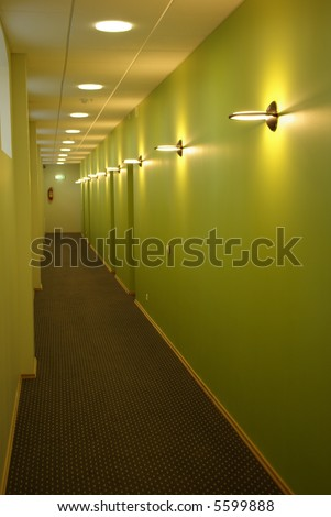 Modern and stylish corridor