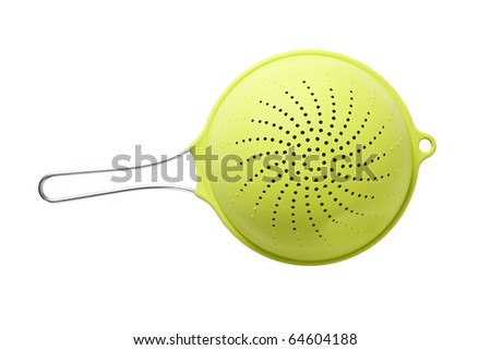 modern and stylish green colander