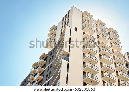 Modern apartment building exterior #692531068