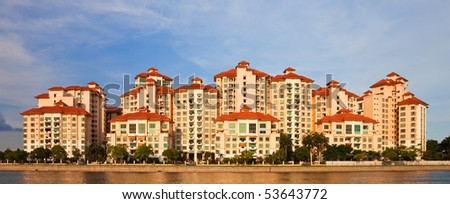 Modern Apartment Buildings in Singapore.