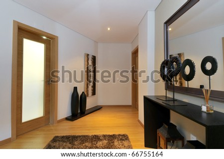 Modern apartment hall decoration