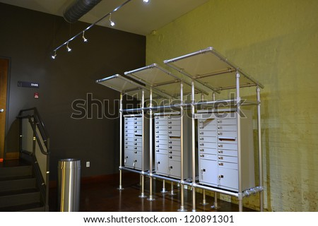 Modern Apartment Mailboxes Stock Photo Shutterstock