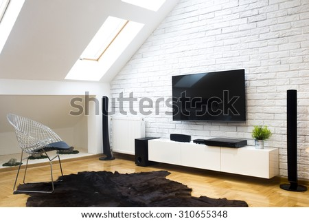 Modern apartment with home theater #310655348