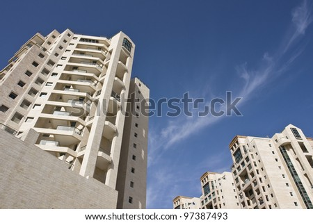 Modern apartments background