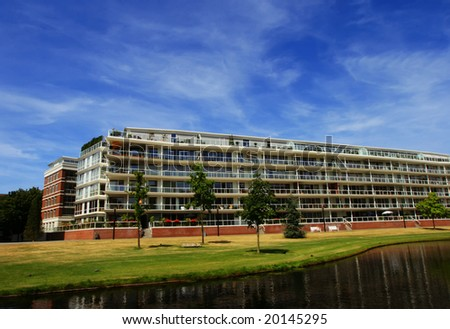 Modern apartments with garden (The Hague, The Netherlands)