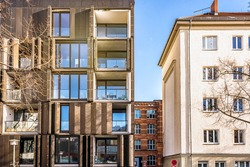 modern appartment house in berlin