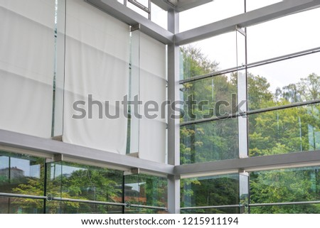 Modern architect room with high ceiling #1215911194
