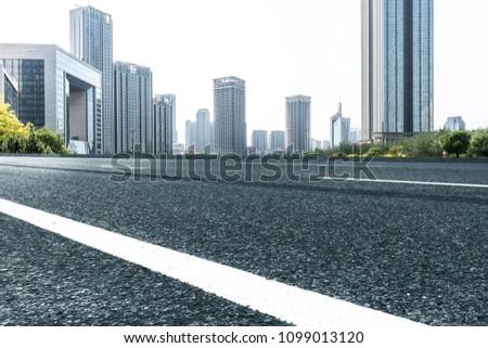 Modern architectural scenes taken in Tianjin, China, in 2018