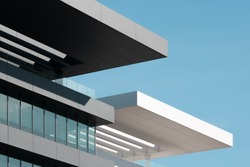 Modern architecture black and white building