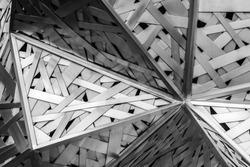 Modern architecture black and white steel, architectural design, architecture background concept.