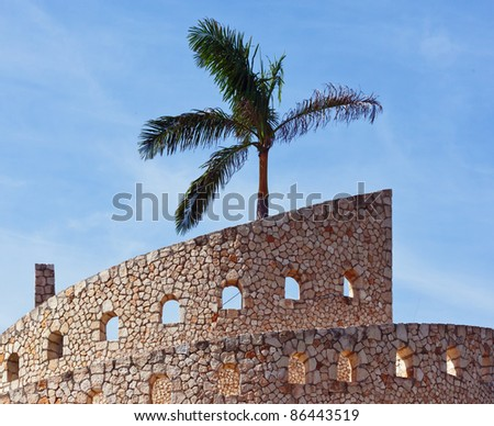 Modern architecture building in Xcaret, Mexico