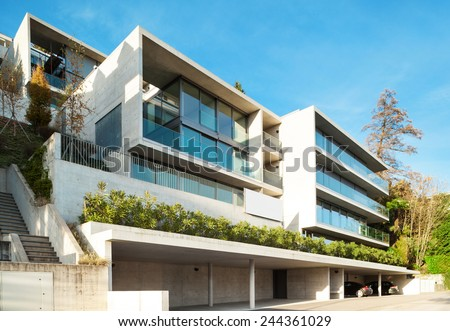 Modern architecture, building, view from outside