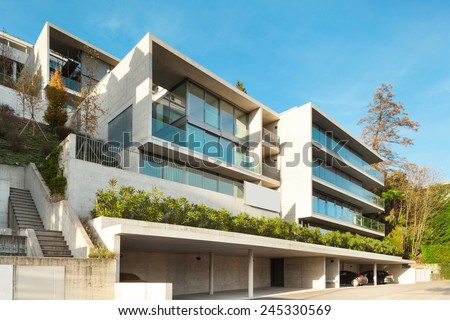 Modern architecture, building, view from outside #245330569