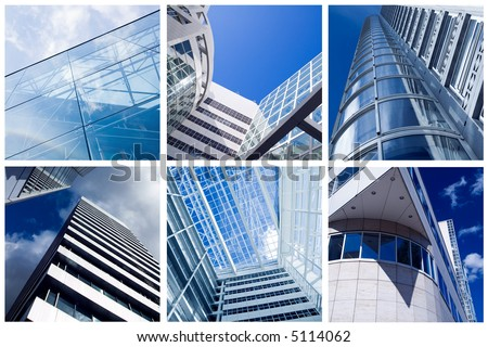 modern architecture collection - stock photo