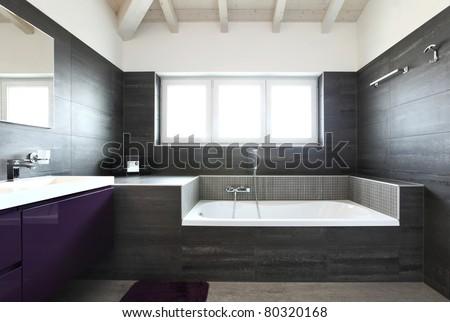 modern architecture contemporary, interior, bathroom