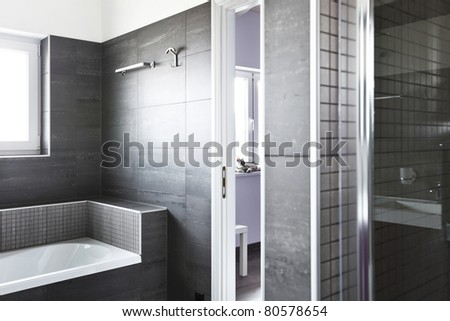 modern architecture contemporary, interior, bathroom