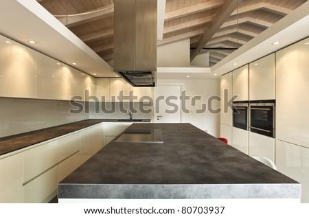 modern architecture contemporary, interior, kitchen view
