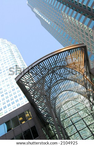 Modern architecture details  in downtown Toronto, Canada