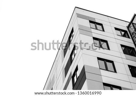 modern architecture geometric style #1360016990