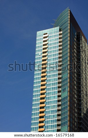 Modern Architecture in a New Highrise Condominium in Downtown Chicago