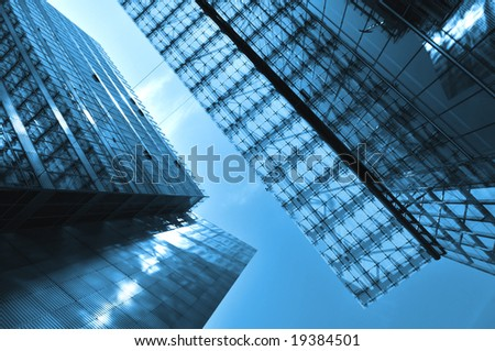 Modern Architecture in blue